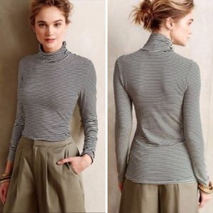 Anthropologie Striped Turtleneck